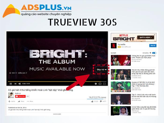 bảng giá quảng cáo trên youtube 01