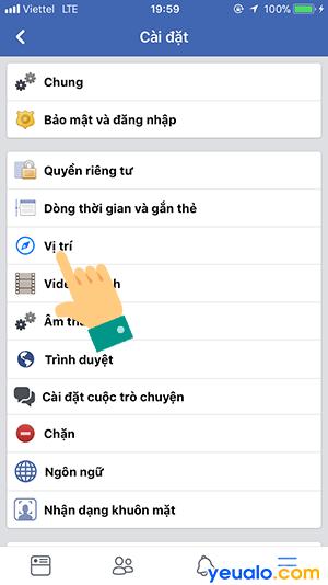 Cách theo dõi vị trí người khác qua Facebook 2