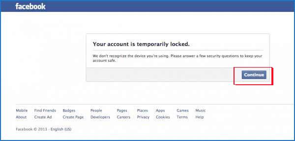 Mở khóa Facebook bị khóa