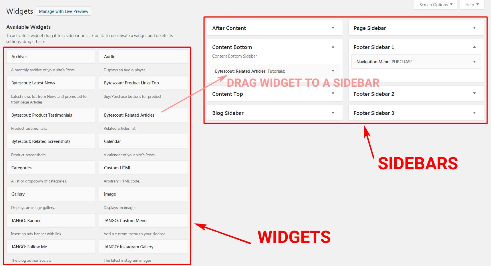 Tìm hiểu WordPress Widget bạn cần biết gì?