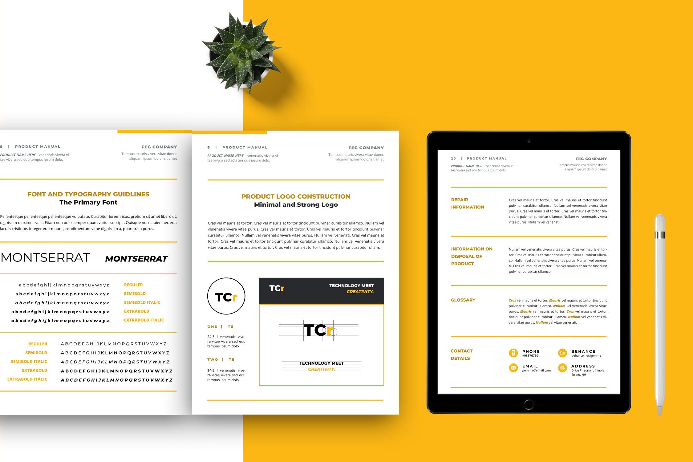 25+ Mẫu hướng dẫn thương hiệu đẹp (Brand guideline template) năm 2021 -  Vareno